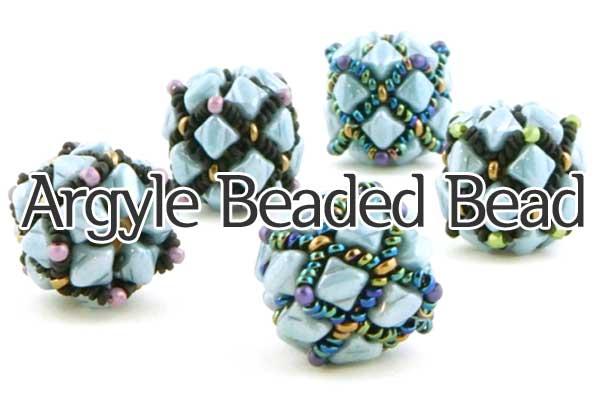 Argyle Beaded Bead