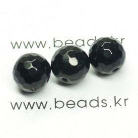 제이드컷팅라운드 10mm(블랙) - 5개