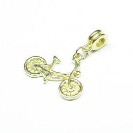 메탈댕글장식 33mm(금도금-자전거) - 1개