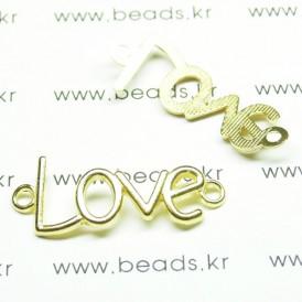 Love 링크장식 40*15mm(금도금) - 1개